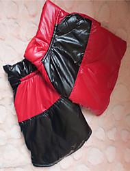 T-shirt - Chiens - Hiver Rouge / Noir - en Matériel mixte - XS / S / M / L