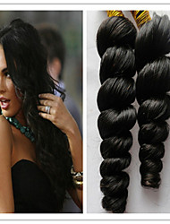 "3Pcs/Lot 8""-34"" Brazilian Loose Wave Virgin Human Hair Weft Weaves  No Shedding No Tangle"