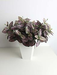11.8 «six branches Hypoestes pourpres phyllostachya plante artificielle pour la décoration