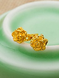 24K gold plating   Flower Earrings