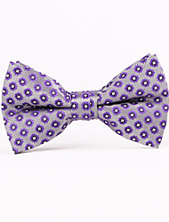 Purple Squares Men Bow Ties