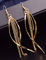 Top Quality European Style Long Tassel Drop Earrings for Wedding Party
