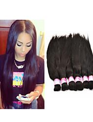 """3pcs/lot 14""""-34""""Brazilian Braiding Hair Bulk Virgin Human Hair Straight Hair Braids No Weft Braiding Hair Extensions"""