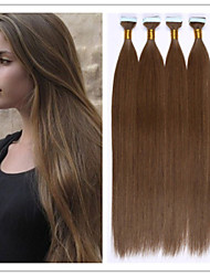 "Brazilian Virgin Hair Keratin PU Skin Weft/Glue Skin Weft Hair Extensions 18""-28"" 2.5G/Strand 100G/PC 1PC/LOT In Stock"
