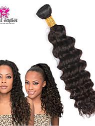 3шт много 8-26-дюймовые 5a необработанные бразильского Виргинские волос глубокая волна человеческих волос натуральный черный волос ткать