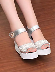 Astrider Women's Shoes Silver/White Platform 3-6cm Sandals