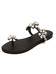 Women's Shoes  Flat Heel Styles Slippers Casual Black/White