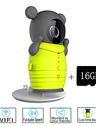 Besteye® 16GB TF Card and Cute Wireless WIFI Camera with IR Night Vision IP Surveillance Wireless Camera