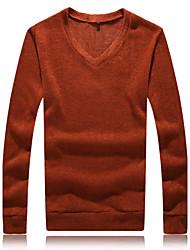 Men's Solid Pullover,Rabbit Fur Long Sleeve