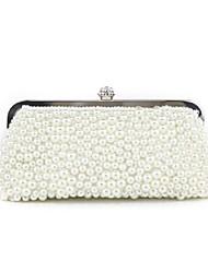 Handbag Imitation Pearl/Polyester Evening Handbags/Clutches With Imitation Pearl/Pearl