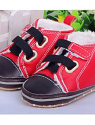 Zapatos de bebé - Sneakers a la Moda - Casual - Semicuero - Rojo / Caqui