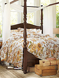 H&C 100% Cotton 1500TC Duvet Cover Set 4-Piece Flowers Pattern HT6