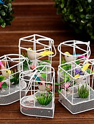 Handcrafted Singing Bird in Metal Cage Automatic Music Box (Random Color)