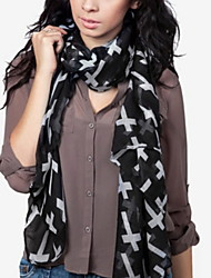The Cross Pattern Silk Scarves Voile Scarf