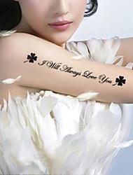 5Pcs English Tattoos Waterproof And Clovers Tattoo