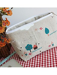Women 's Canvas Casual Cosmetic Bag - Gray