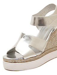 Women's Shoes Wedge Heel Wedges Sandals Casual Black/White/Silver