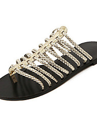 Women's Shoes Flat Heel Slingback/Ankle Strap Sandals Casual Silver/Gold