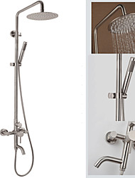 Deluxe 304 Stainless Steel Wall-Mounted Rain-Style Rainfall Bath&Tub Shower Faucet Mixer Tap