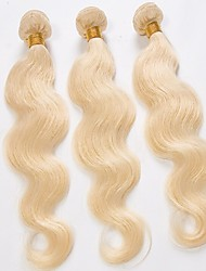 3Pcs Lot Top Quality Peruvian Virgin Hair Body Wave Light Blonded 613 Color Human Hair Weaves/Weaving