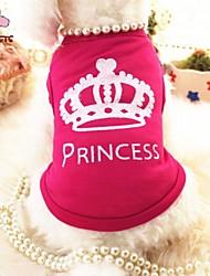 Katzen / Hunde T-shirt Rose Hundekleidung Sommer Tiaras & Kronen / Prinzessin Hochzeit / Cosplay