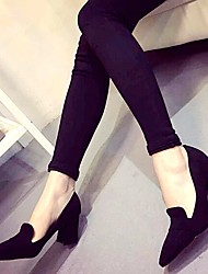 Amir 2015 Hot Sale Women's Shoes Chunky Heel Pointed Toe Pumps/Heels Office & Career/Casual Black/Gray