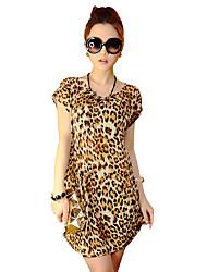Women'S Summer High Street Style Bohemian Print Silk Casual Dress