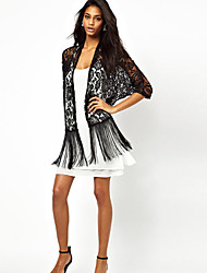 NUNEU   Women's Cute ½ Length Sleeve Casual Shirts (Lace)