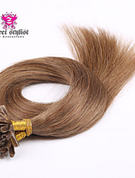25 Bonds Stock Dark Color Prebonded Hair Mongolian Remy Nail Tip Hair Extensions 20 inch U Tip Hair Extensions NEW!!!
