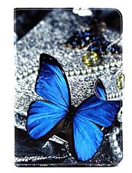 motif papillon cuir PU cas complète du corps avec support pour iPad mini-1/2/3