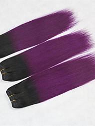 "3 Pcs/Lot+10""-18""+ Brazilian (Italian) Virgin Hair+color(1b/purple)+Straight.."
