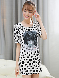 Women's Vintage/Sexy/Bodycon/Beach/Casual/Cute/Party   Short Sleeve Above Knee Dress