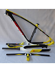 MB-NT202G1 Neasty Logo High Qulity Yellow Color 29er Full Carbon Fiber Mtb Frameset Frame Fork Saddle Handlebar Seatpost