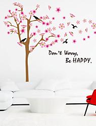 Stickers muraux murale de style de décalcomanies être heureux mots anglais&cite muraux PVC autocollants