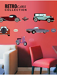 Automobile Background Arts Stickers Bedroom New Foreign Trade Wall Stickers