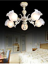 brancos cinco luzes 220v europeu clássico retro