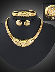 Collar/Pendiente/Brazalete/Anillo (Aleación/Zirconia Cúbica/Piedra Preciosa y Cristal)- Vintage/Fiesta/Trabajo/Casual para Mujer