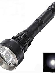 Lampe de Poche LED Sky Ray 3XT6-818 Cree XM-L T6 à 5 Modes (4000LM, 2 x 18650, Noire)