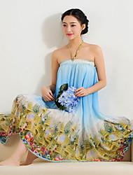 NUNEU   Women's Vintage Off-the-shoulder Dresses (Chiffon)