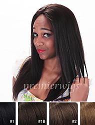 7a qualité 100% yaki droites perruques de cheveux blonds yaki 100% perruques de dentelle de cheveux humains avant vierges indiens pour les