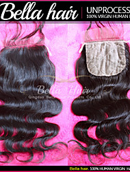 "Brazilian Body Wave Silk Base Closure Remy Virgin Human Hair Weave 8""-20"" Top Quality Hair Bella Hair"
