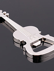 Zinc Alloy Music Guitar with beer Bottle Opener Key Chain Keyring