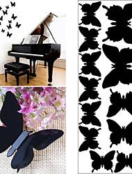12 pc decalcomanie della parete della parete 3d farfalla di plastica