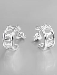 novo design italy S930 banhado a prata brincos de senhora jóias declaração multa para as mulheres