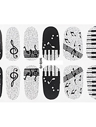 Note Piano Nail Art Glitter Sticker