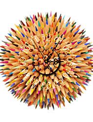 Modern 3D Effect Color Pencils Wall Clock 15.75*15.75 inch / 40*40cm