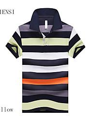 2015 summer men's short sleeve T-shirt Korean large men's Polo Shirt Lapel code obesity trend
