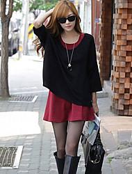 vestido de maternidad cuello redondo estilo coreano de las mujeres