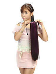 The New Dark Brown Dye Violet Color Rope Straight Hair Ponytail