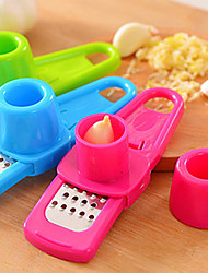 Garlic Grater Slicer Shredder with Finger Protector(Random Color)